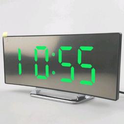 1PC New Night Light Alarm Clock Digital LED Display Battery