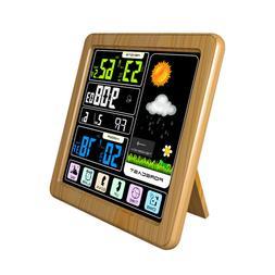 1Pc Weather Clock Wireless Digital Home Outdoor Indoor Alarm