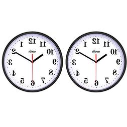 2 Pack Large Wall Clock Oversized Living Room Silent Decorat