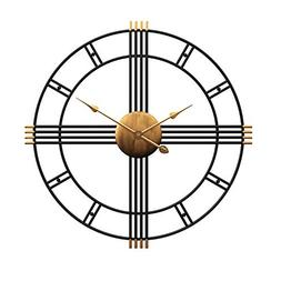 "Aero Snail 20"" Metal Wall Clock Decorative Round 3D Hollow"