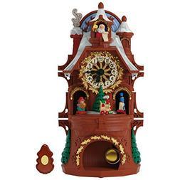 Hallmark Santa's Musical Christmas Clock with Motion and Lig