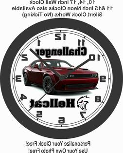 2019 DODGE CHALLENGER HELLCAT REDEYE WALL CLOCK-ALL COLORS A