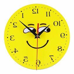 20mm Fabric Wooden Wall Clocks Needle Circular Shape Modern