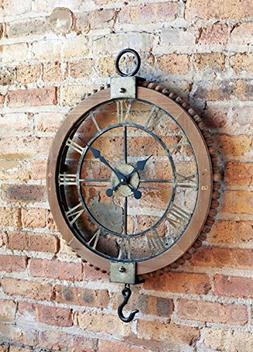 "Melrose 21.75"" Large Open Extravagant Vintage Wall Clock w"