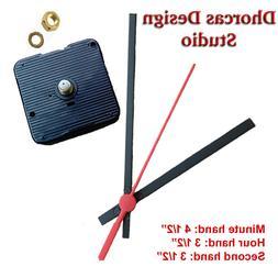 "Quartz Clock Movement kit, 1/4"" thread motor and plastic Bl"