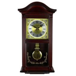 22 wall clock in mahogany cherry oak