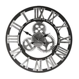 Jeteven 23.6'' Wall Clock, Retro Vintage Handmade 3D Decorat