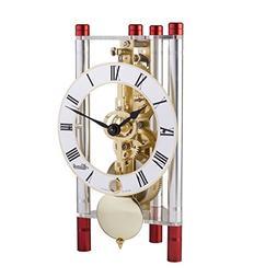 Hermle 23023T40721 Lakin Triangular Table Clock - Silver & R