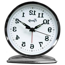 Equity 24014 Silver Tone Wind-up Alarm Clock