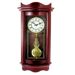 "Bedford 25"" Grandfather Weathered Cherry Wood Wall Pendulum"