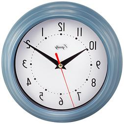 Equity by La Crosse 25014 Round Plastic Analog Wall Clock, 8