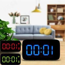 "3.5"" Alarm Clock Large Digital LED Display USB/Battery Opera"