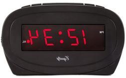 La Crosse Technology 30228 Alarm Clock, Black, 0.6-In. Red L