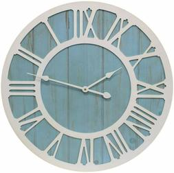 Growsun 32 Large Wall Clock Solid Wood Clocks for Farmhouse
