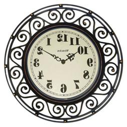 32021 wrought iron wall clock