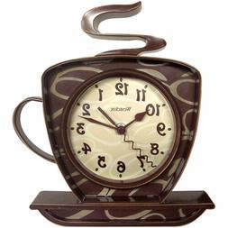 Westclox 32038 Clo 8 Coffee Cup Wall Clock Brown