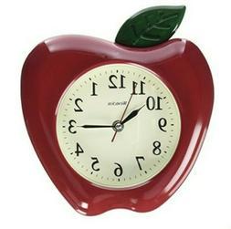 "WESTCLOX 32038A 3-Dimensional Apple 10"" Wall Clock"