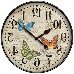 WESTCLOX 32897BF 12 Round Butterfly Wall Clock Home & Garden
