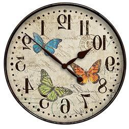 "Westclox 32897BF 32897bf- 12"" Butterfly Wall Clock"