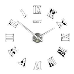 3D DIY Wall Clock, Timelike 1M Modern Frameless Large 3D DIY