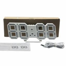 3D LED Table Clock Number Design Show Temperature Date Livin