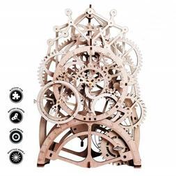 3D Puzzling Laser-Cut Pendulum Clock Model Kit Mechanical Wo