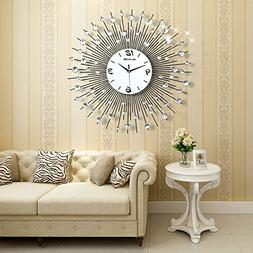 NEOTEND 3D Wall Clock 64pcs Diamonds Decorative Clock Diamet