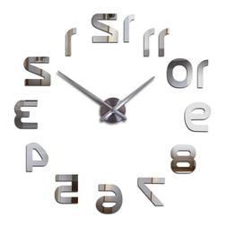 3d Wall Clocks Mirror Stickers Living Room Modern Quartz Nee