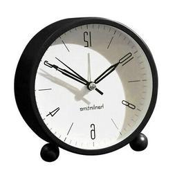 "4"" Loud Alarm Clock Night-Light Quartz Analog Clock for Kid'"