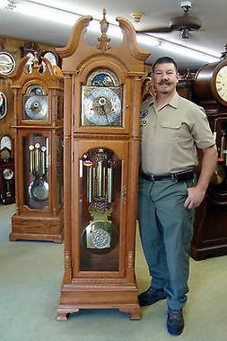 Hermle 41376 Solid OAK Grandfather Clock German Triple Chime
