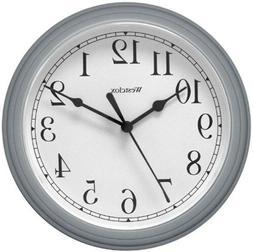 Westclox 46984 Simplicity 8 Inch Round Wall Clock- Silver