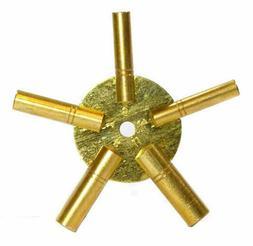 5-IN-1 Even Number Brass Clock Winding Key- 2-4-6-8-10 Clock