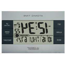 La Crosse Technology 617-1280 Atomic Digital Alarm Clock, Si