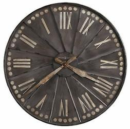 625-630 -THE STOCKARD, OVERSIZED 35 INCH WALL CLOCK BY HOWAR
