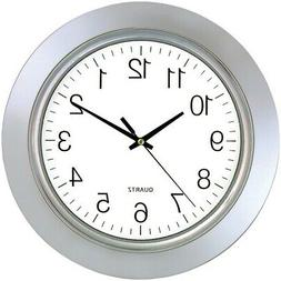 TIMEKEEPER 6450 13 Chrome Bezel Round Wall Clock - Free ship