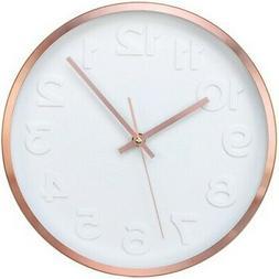 Timekeeper 668024 Cooper II Copper Wall Clock w/White Dial a
