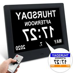 "7.5"" Dementia Alarm Clock Digital Calendar Day Clock Desk/Sh"