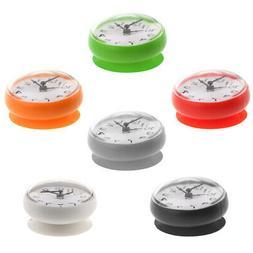 7.5cm Silicone Waterproof Sucker Clock for Kitchen Bathroom