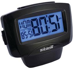 WESTCLOX 72020 Large Easy-To-Read LCD Alarm Clock with Day/D