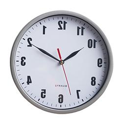 "8"" Silent Wall Clock Non-ticking Decor Digital Quartz Wall C"