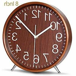 8 Desk & Shelf Clocks Inch Wood Table Battery Operated For L