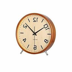 KAMEISHI 8 Inch Desk Clocks Battery Operated Wood Silent Non