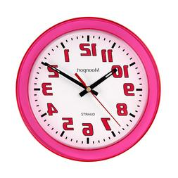 8 Inch Wall Clock,Silent Non-Ticking Quartz Battery Operated