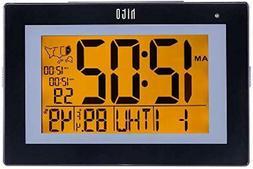 "hito 9.5"" Large Digital Battery Atomic Alarm Clock Desk Wa"