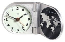 BAI World Trotter Solid Aluminum Travel Alarm Clock, Landmar
