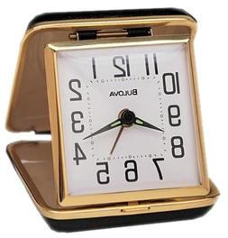 Bulova B6112 Reliable II Clock, Black Case