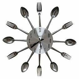 Comfort Home Cutlery Kitchen Spoon & Fork Decorative Wall Cl