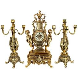 Design Toscano Inc Chateau Beaumont Grand Clock and Candelab