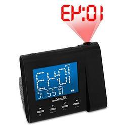 Magnasonic Projection Alarm Clock with AM/FM Radio, Battery