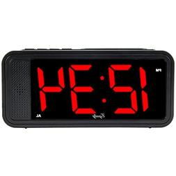 "Equity by La Crosse 75907 1.8"" LED Simple Set Alarm Clock wi"